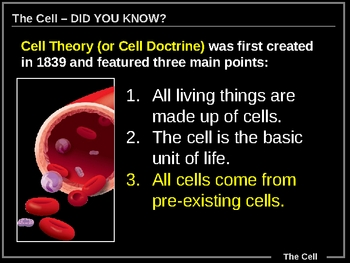 ILLUSTRATED 63-slide Intro to Cell Biology!