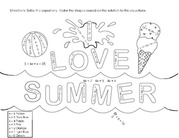 ILOVESUMMER Color by Solution