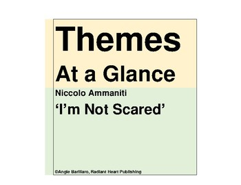 I'M NOT SCARED - NICCOLO AMMANITI NOVEL THEMES AT A GLANCE HANDOUTS