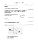 IM1 Single Worksheet - Daily Review #88