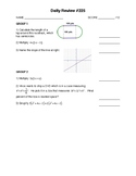 IM2 Single Worksheet - Daily Review #225