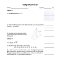 IM3 Single Worksheet - Daily Review #327