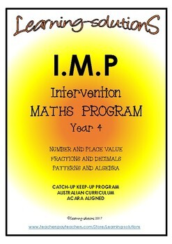 INTERVENTION MATHS PROGRAM BUNDLE - IMP Year 4 - Aust- ACARA aligned + Games