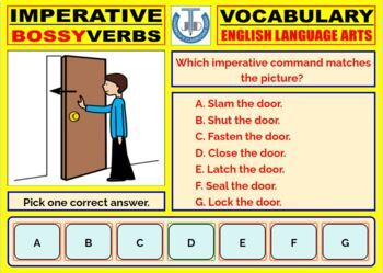 IMPERATIVE (BOSSY) VERBS : SCAFFOLDING NOTES