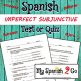 IMPERFECT SUBJUNCTIVE--Spanish Test or Quiz with Answer Key