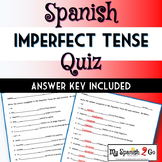 IMPERFECT TENSE:  Spanish Fill-In-The-Blank Quiz