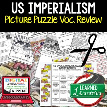 IMPERIALISM Picture Puzzle Unit Review, Study Guide, Test Prep