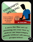 "IMPROMPTU SPEAKING (Communication Activities): ""Help Avoid"