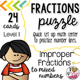 IMPROPER TO MIXED FRACTION PUZZLE (LEVEL 1)