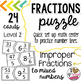 IMPROPER TO MIXED FRACTION PUZZLE  (LEVEL 2)