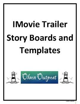 imovie trailer graphic organizers and templates imovie trailer graphic organizers and templates