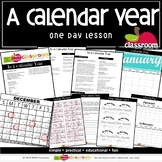 IN A CALENDAR YEAR Preschool PreK Kindergarten 1-Day Lesson Plan