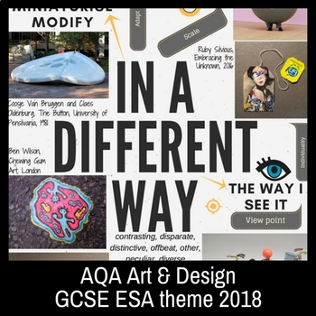IN A DIFFERENT WAY - theme mind-map interactive artist links - AQA GCSE ESA 2018