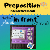 IN FRONT + PLURALS + Clothes Interactive Book & Sentence F