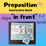 IN FRONT + Shapes Interactive Book and Simplified Sentence