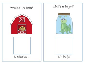 """IN"" Interactive Book! Teach the preposition ""in"" using interactive literacy!"