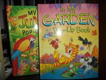 IN MY GARDEN POP UP BOOK   MY JUNGLE POP UP   (set of 2)