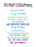 IN OUR CLASSROOM Poster FREEBIE!