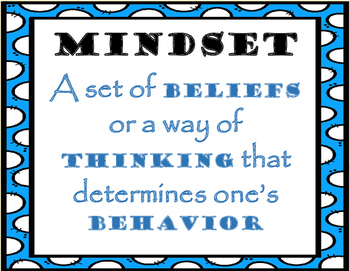IN OUR SCHOOL WE SAY THIS...Mindset bulletin board