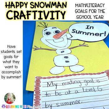 IN SUMMER! Happy Snowman Academic Goals CRAFTIVITY