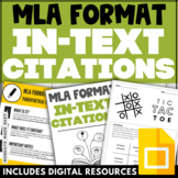 IN-TEXT CITATIONS WORKSHEETS MLA Format Activities Digital