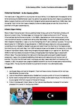 IN THE COUNTRY OF MEN - Hisham Matar Teacher Text Guides and Worksheets