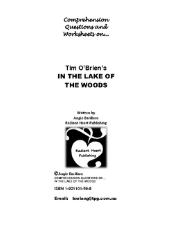 IN THE LAKE OF THE WOODS Tim O'Brien Comprehension Questions