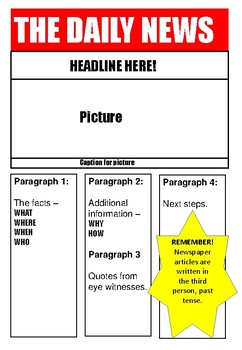 IN THE NEWS! Reading Activities and writing pack from news stories