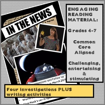 IN THE NEWS! Reading passages and writing pack, DISTANCE LEARNING