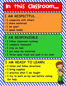 IN THIS CLASSROOM editable poster to display expectations