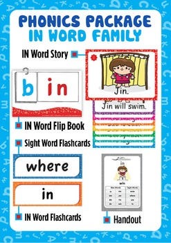 'IN WORD FAMILY' Phonics Lesson Package