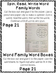 IN Word Family Interactive Notebook