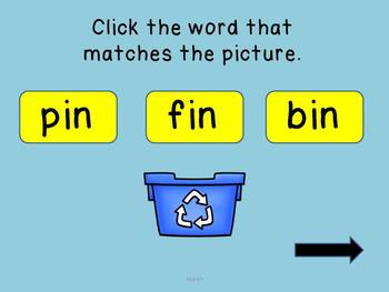 IN Word Family Powerpoint Game