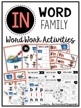 IN Word Family Word Work Activities
