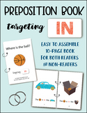 IN (a preposition book) - Speech/Language Therapy
