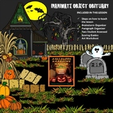 HALLOWEEN INANIMATE OBJECT OBITUARY - CC Narrative Writing Lesson - Grades 6 - 8
