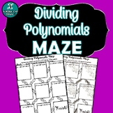 NEW! - INB ACTIVITY MAZE - Algebra - Dividing Polynomials