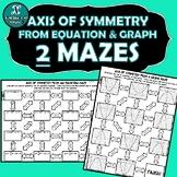 INB ACTIVITY MAZES - Axis of Symmetry of Quadratics