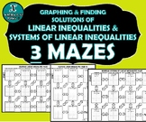 INB ACTIVITY MAZES - Graphing Linear Inequalities & System