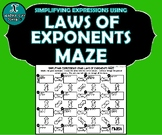 INB ACTIVITY MAZES - Laws of Exponents