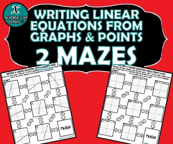 INB ACTIVITY MAZES - Writing Equations from Graphs & Points