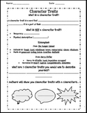 INB- Character Traits Notes