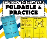 INB FOLDABLE & PRACTICE - Representing Relations & Domain and Range