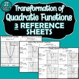 INB NOTES - Algebra - Transformations of Quadratic Functions