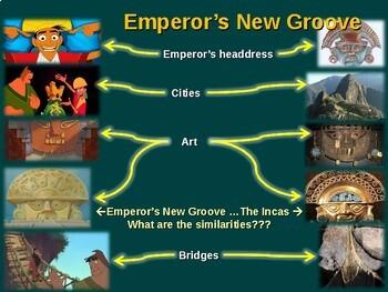 INCA & Emperor's New Groove! - teach Inca history with the movie!