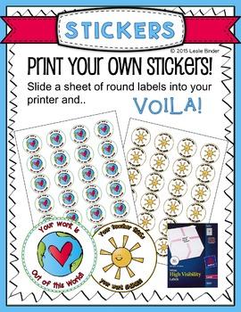 DIY Incentive Stickers-{Freebie}