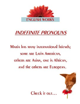 INDEFINITE PRONOUNS: One, Another, Some, Others, the Other/s