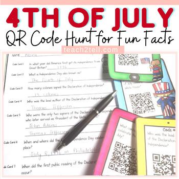 FOURTH OF JULY QR CODE HUNT
