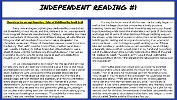 INDEPENDENT READING PASSAGES PART 1