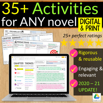 Independent Reading Activities (for ANY text)